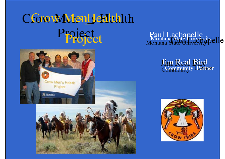 The Crow Men's Health Project