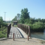 One of two bridges at Brewery Flats