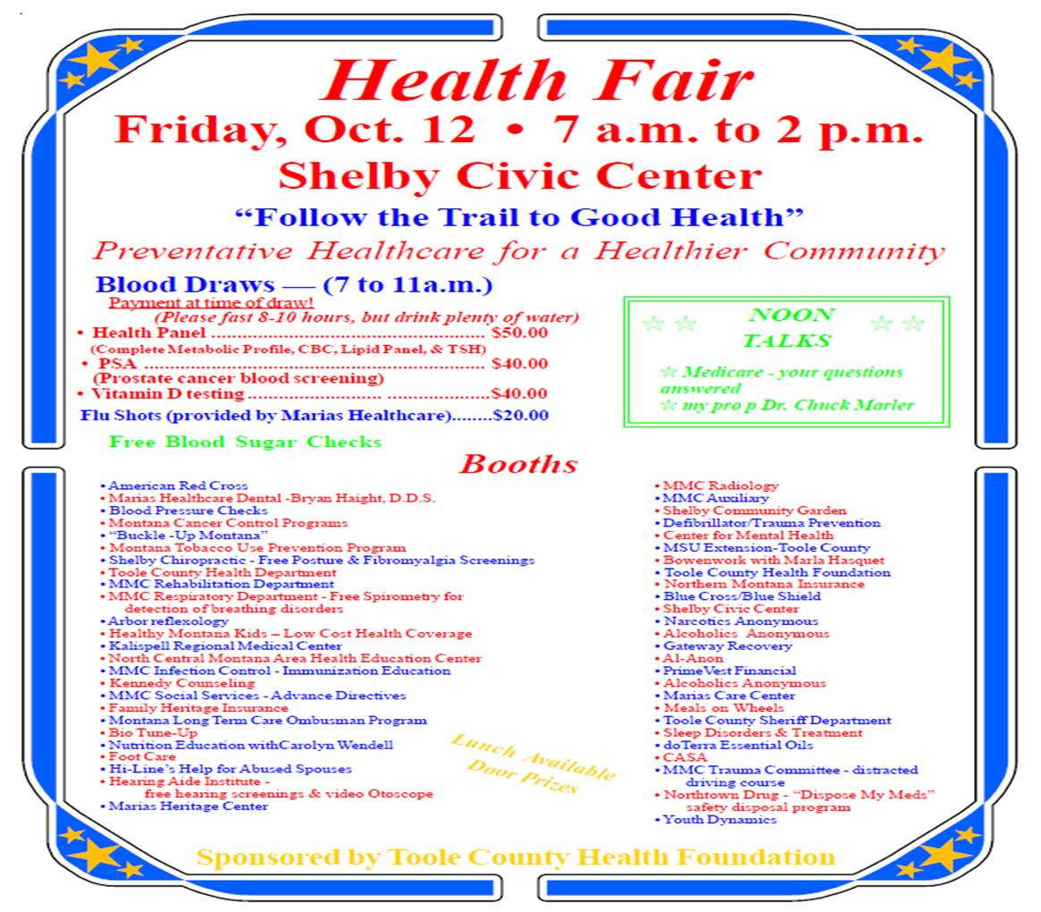 Shelby Health Fair: October 12, 2012